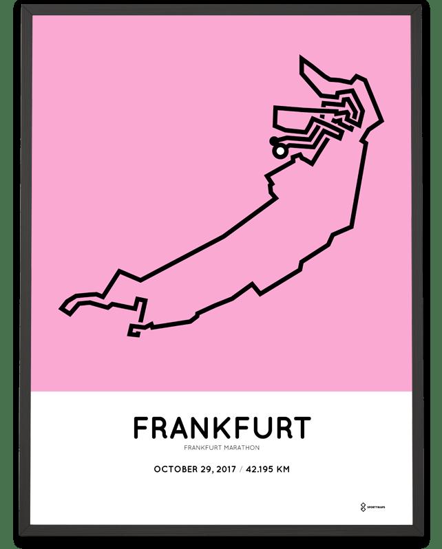 2017 Frankfurt Marathon Print Sportymaps