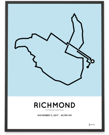 2017 Richmond USA marathon course poster