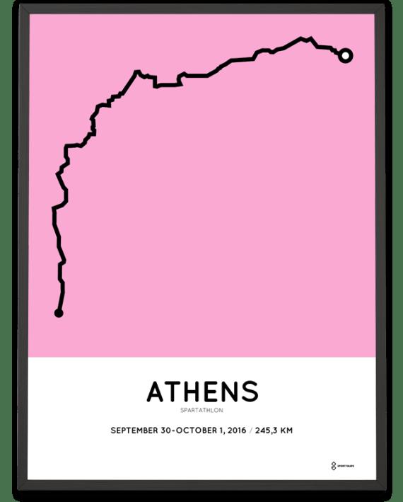 2016 Spartathlon course poster