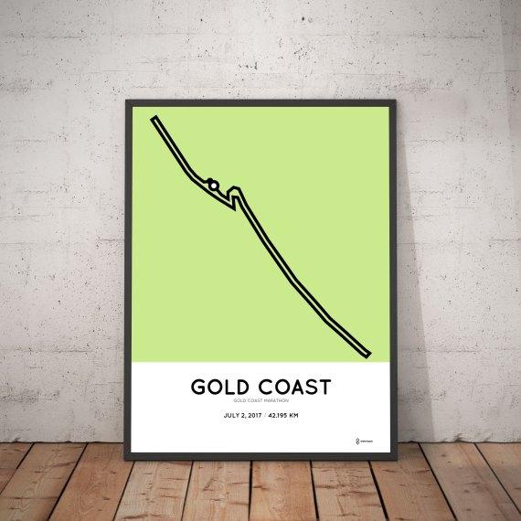 2017 Gold Coast marathon route print