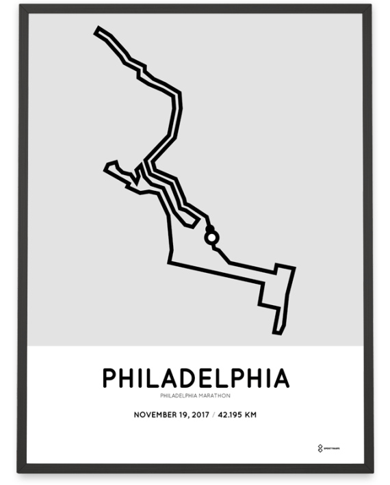 2017 Philadelphia marathon course print