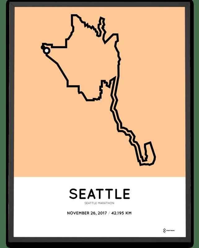 2017 Seattle Marathon print