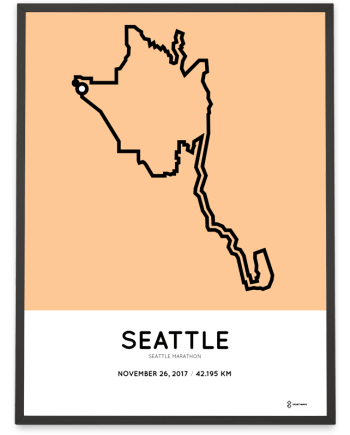 2017 Seattl marathon course map poster