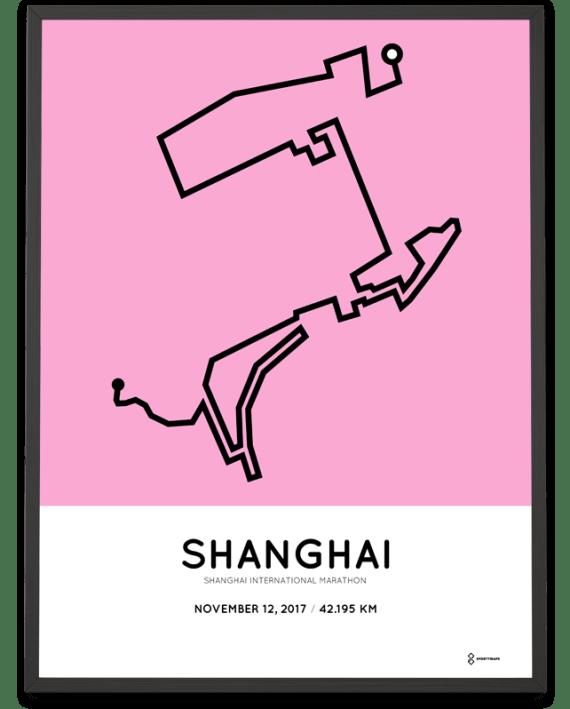 2017 Shanghai International marathon course poster