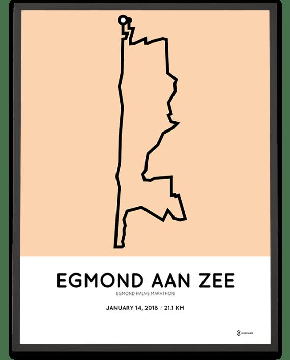 2018 Egmond halve marathon parcours poster