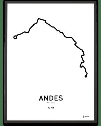 Inca trail route print