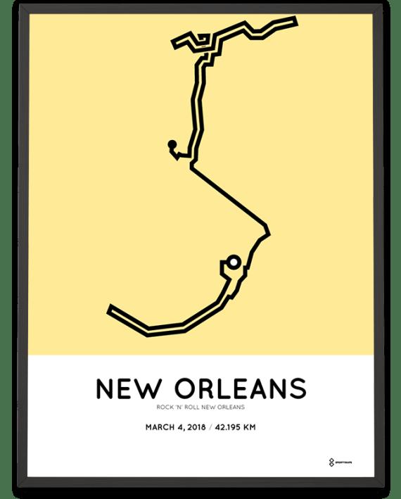 2018 New Orleans marathon course poster