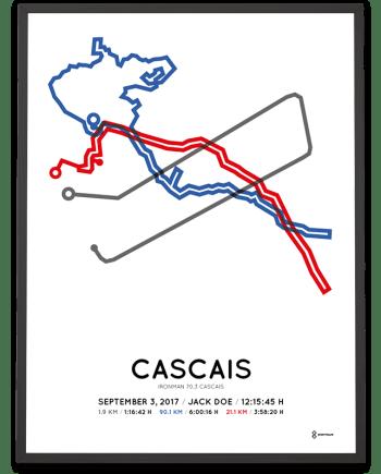 2017 Ironman 70.3 Cascais course poster