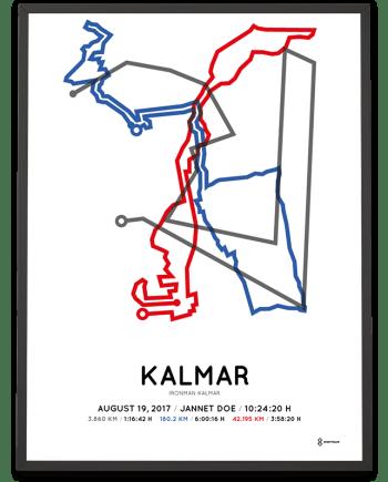 2017 Ironman Kalmar course poster