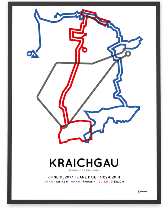2017 Kraichgau Ironman 70.3 parcours poster
