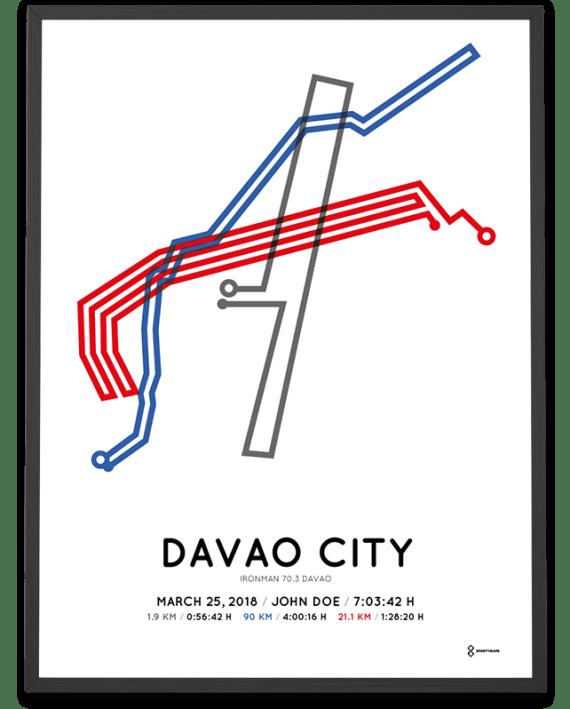 2018 Davao Ironman 70.3 course poster