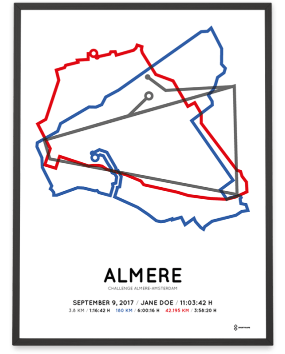 2017 Challenge Almere-Amsterdam course parcours print