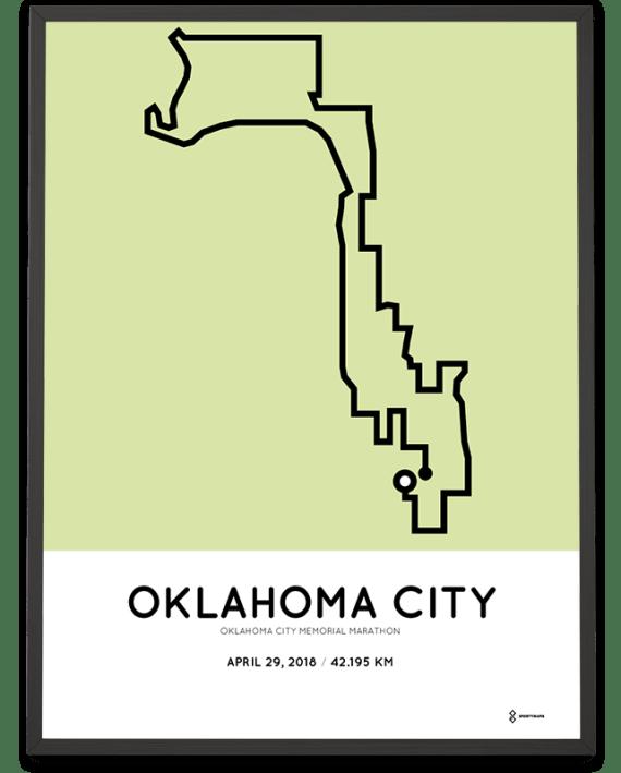 2018 Oklahoma city memorial marathon course poster