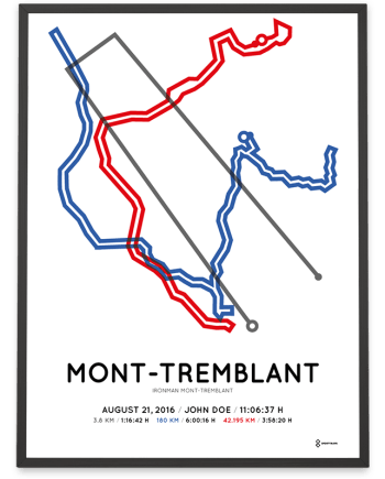 2016 Ironman Mont-Tremblant course poster