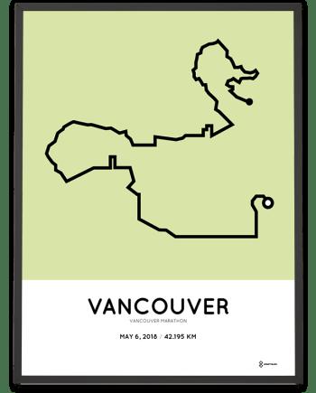 2018 Vancouver marathon route poster