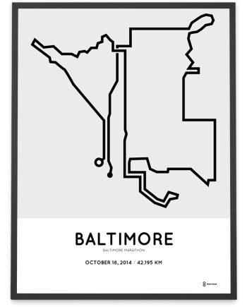 2014 Baltimore marathon course poster
