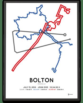 2018 Ironman Bolton course poster