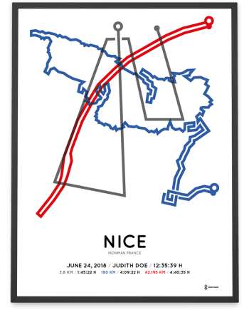 2018 Ironman Nice parcours poster