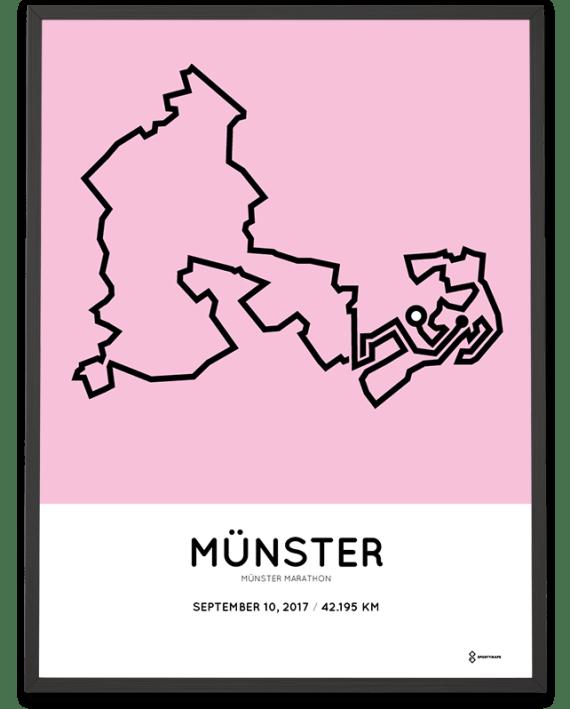 2017 Munster marathon streckemap poster
