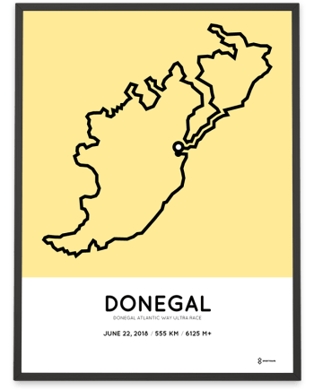 2018 Donegal atlantic way ultra race course print