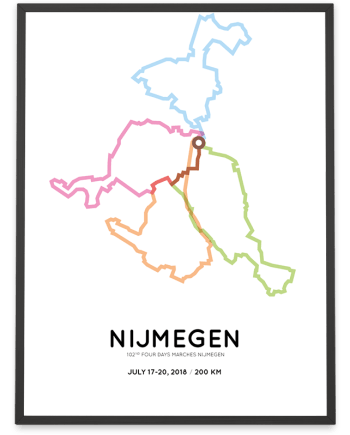 2018 Four Days marches 200km route poster