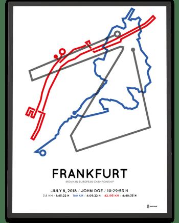 2018 Ironman European Championship Frankfurt course poster