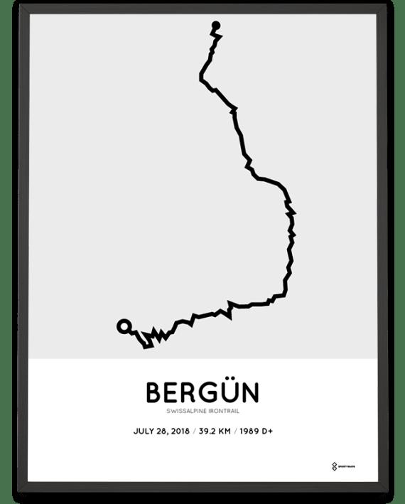 2018 Swissalpine Irontrail 39km course poster