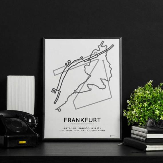 2018 Ironman Frankfurt parcours print
