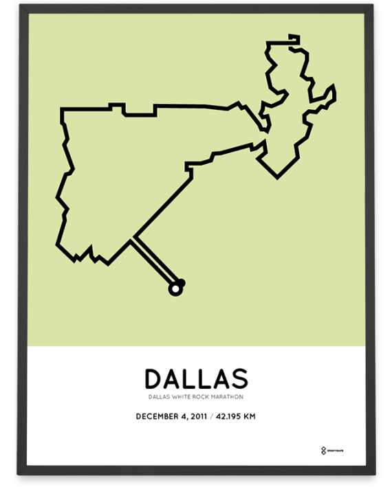 2011 Dallas Marathon course poster