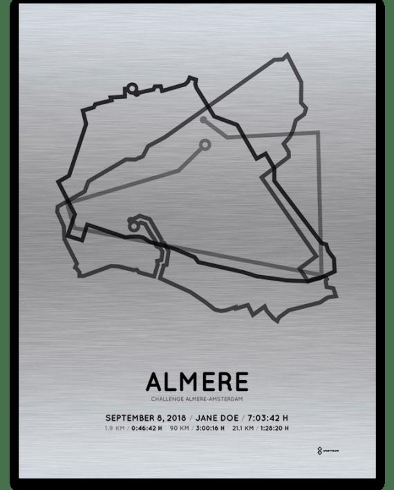 2018 Challenge almere-amsterdam middle distance aluminum course print