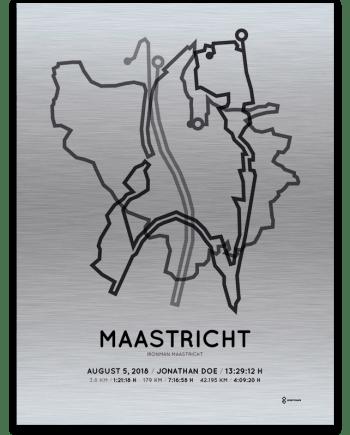2018 Ironman Maastricht aluminium route print