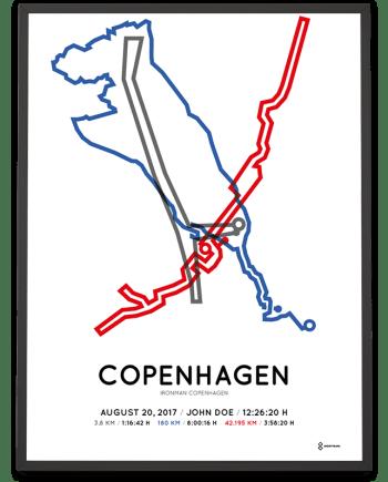 2017 Ironman Copenhagen course poster sportymap