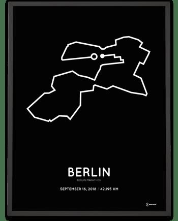 2018 Berlin marathon streckemap sportymaps poster