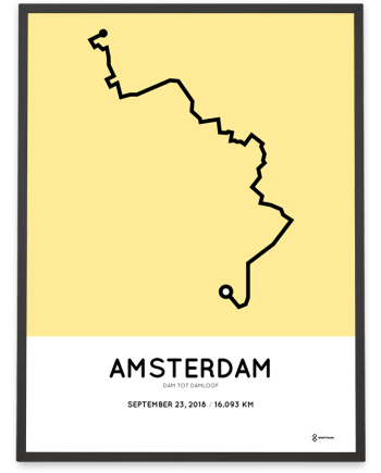 2018 Dam tot damloop parcours sportymaps poster