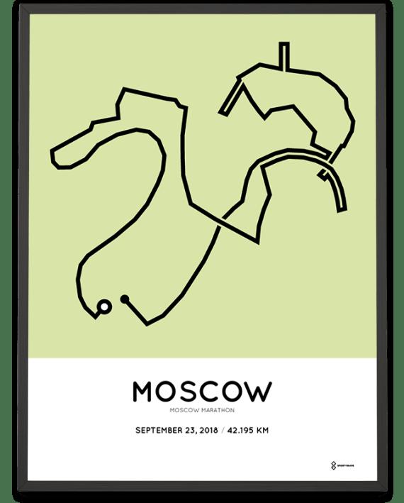 2018 Moscow marathon course poster