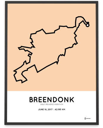 2017 Great Breweries marathon route map poster
