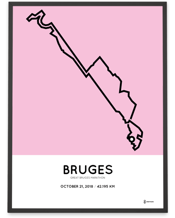 2018 Great bruges marathon course poster