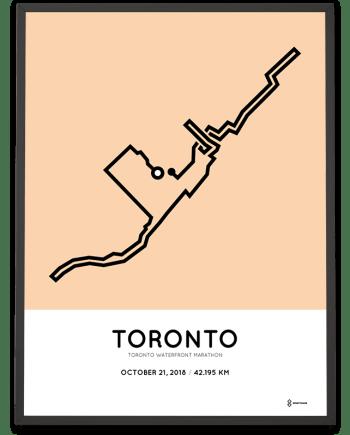 2018 Toronto Waterfront marathon course print