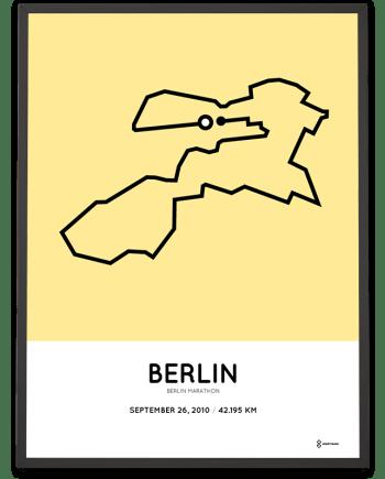 2010 Berlin marathon route poster