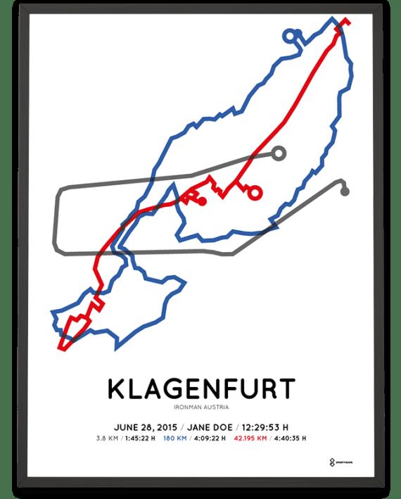 2015 Ironman Klagenfurt strecke sportymaps poster