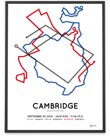 2018 Ironman maryland course sportymaps poster