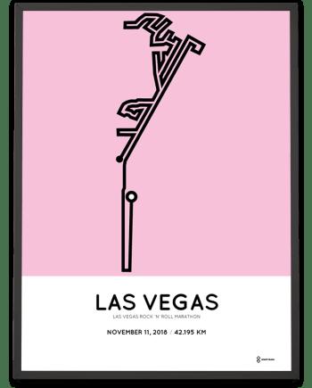 2018 Las Vegas marathon sportymaps course poster