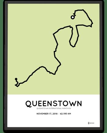 2018 Queenstown International marathon course poster