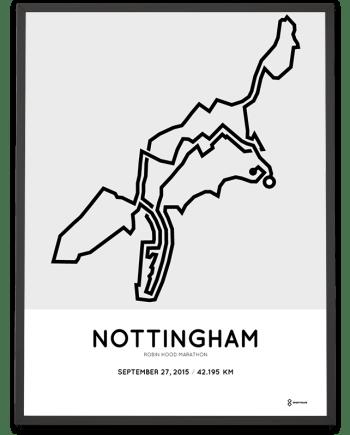 2015 Robin hood marathon Nottingham course poster