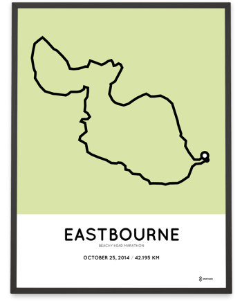 2014 Beachy Head Eastbourne marathon course poster