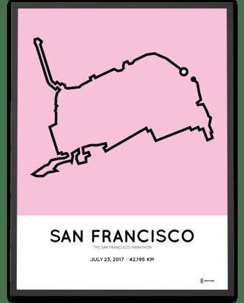 2017 San Francisco marathon course poster