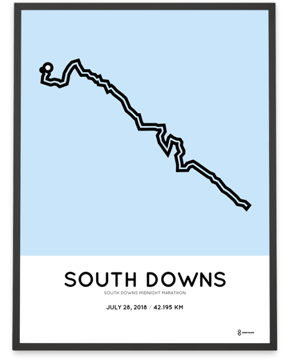 2018 South Downs Midnight Marathon course poster