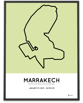 2019 Marrakech marathon parcours poster