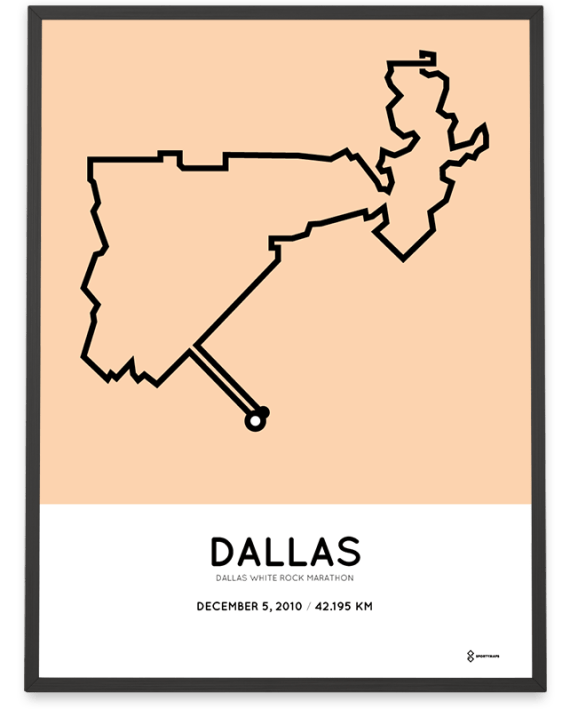 2010 Dallas White Rock marathonermap