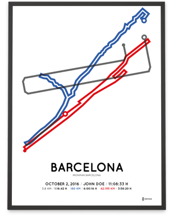 2016 Ironman Barcelona sportymaps course poster